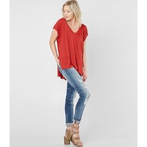 We The Free FREE PEOPLE | Red Voyage T-Shirt | S